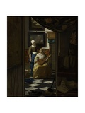 The Love Letter  Johannes Vermeer  1669-1670