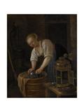 Woman Scouring Metalware  1650-60