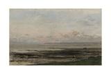Beach at Ebb Tide  by Charles Francois Daubigny  C 1850-78