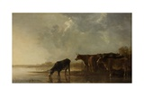 River Landscape with Cows  1640-50