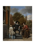 The Burgomaster of Delft and His Daughter  1655