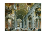 Interior of Paint Peter's  Rome  1754