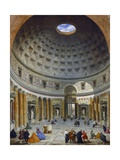 Interior of the Pantheon  Rome  1734