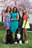 Obama Family Photo in the White House Rose Garden  Easter Sunday  April 5  2015