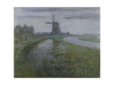 Oostzijdse Mill Along the River Gein by Moonlight  C 1903