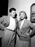 The Winning Team  from Left  Ronald Reagan  Doris Day  On-Set  1952
