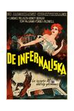 Carnival of Souls  (AKA De Infernaliska)  Swedish Poster Art  Candace Hilligoss (Top)  1962