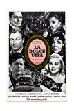La Dolce Vita  Argentine Poster  (Clockwise from Right)  1961