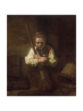 A Girl with a Broom  1651