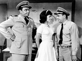Mchale's Navy  from Left  Ernest Borgnine  Claudine Longet  Tim Conway  1964