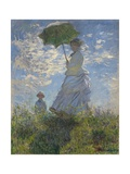 Woman with a Parasol-Madame Monet and Her Son  1875