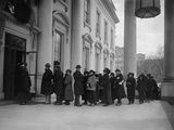 Citizens in Line at White House for the 1st New Year's Reception of Calvin Coolidge's Presidency