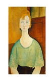 Girl in a Green Blouse  1917