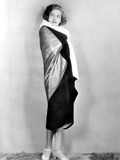 Torrent  Greta Garbo  Modeling an Evening Wrap Gold Metal Cloth and Black Velvet  1926