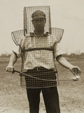 Mouse-Trap Armor Is the Newest Safety Device Seen on California Golf Courses in 1920s