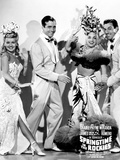 Springtime in the Rockies  from Left  Betty Grable  John Payne  Carmen Miranda  Cesar Romero  1942