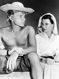 Alexander the Great  from Left  Richard Burton  Claire Bloom  On-Set  1956