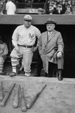 Babe Ruth in a Ny Giants Uniform with Giants Manager John Mcgraw  Oct 23  1923