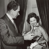 Former Child Actress Shirley Temple Black with Vice President Richard Nixon