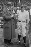 Playwright HH Van Loan Taking Notes as He Talks with Babe Ruth in 1924