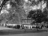 White House Tennis Court During a Match on May 10  1922