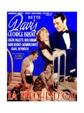 The Golden Arrow  (AKA La Fleche D'Or)  French Poster Art  Bette Davis  George Brent  1936