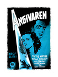 Kiss of Death (AKA Angivaren)  Coleen Gray  Victor Mature  (Swedish Poster Art)  1947