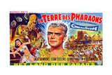 Land of the Pharaohs  (AKA La Terre Des Pharaons)  Center: Jack Hawkins on Belgian Poster Art  1955