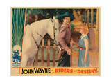 Riders of Destiny  from Left: John Wayne  Cecilia Parker  1933
