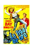Calamity Jane (AKA La Liga De Oro)  Doris Day  Howard Keel  (Argentine Poster Art)  1953