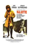 Klute  Jane Fonda  Donald Sutherland on Spanish Poster Art  1971