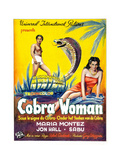 Cobra Woman  Sabu  Maria Montez  (Belgian Poster Art)  1944