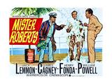 Mister Roberts  L-R: James Cagney  Jack Lemmon  Henry Fonda on UK Poster Art  1955