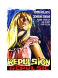 Repulsion  (AKA Repulsie)  Belgian Poster Art  Catherine Deneuve  1965