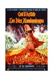 The Ten Commandments  Charlton Heston on Spanish Poster Art  1956
