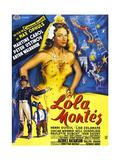 Lola Montes (The Sins of Lola Montes)  Martine Carol  (French Poster Art)  1955