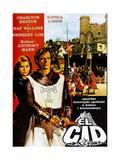 El Cid  Yugoslavian Poster  from Left: Sophia Loren  Charlton Heston  1961