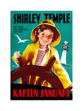 Captain January  (AKA Kapten Januari)  Shirley Temple on Swedish Poster Art  1936