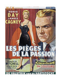 Love Me or Leave Me  (AKA Les Pieges De La Passion)  Belgian Poster Art  1955