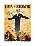 Thanks a Million  (AKA Glada Musikanter)  Swedish Poster Art  Dick Powell  1935