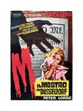 M  (AKA Il Mostro Di Dusseldorf)  1960s Italian Poster Art  1931