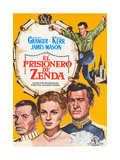 The Prisoner of Zenda  (AKA El Prisionero De Zenda)  Spanish Poster Art  1952