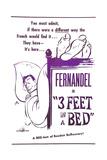 3 Feet in a Bed  (AKA Three Feet in a Bed  Aka Casimir)  French Poster  Fernandel  1950