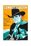 Hollywood Round-Up  (AKA Cowboyhjalten)  Buck Jones on Swedish Poster Art  1937