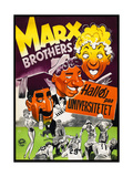 Horse Feathers  the Marx Brothers  Danish Poster for the Film's 1952 Release in Denmark  1932