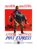 Pony Express  Rhonda Fleming  Charlton Heston  (Italian Poster Art)  1953