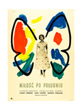 Love in the Afternoon  (AKA Milosc Po Poludniu)  Polish Poster  Audrey Hepburn  1957