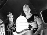 Flash Gordon Conquers the Universe  from Left  Carol Hughes  Buster Crabbe  1940