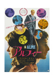 Alfie  Top  in Collage and Bottom Right: Michael Caine on Japanese Poster Art  1966