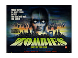 Dawn of the Dead  (AKA Zombies)  Foreign Poster Art  1978